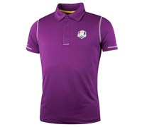 Glenmuir Mens Ryder Cup Auchterarder Performance Polo Shirt (Tayberry/White)