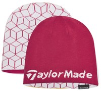 TaylorMade Ladies Reversible Tour Beanie (Pink/White)