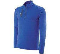Adidas Mens Climalite Mixed Media 1/4 Zip Layering Top 2014 (Royal)