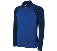 Adidas Mens Climaproof 3-Stripes Colour Block 1/4 Zip Top 2014 (Royal Blue)