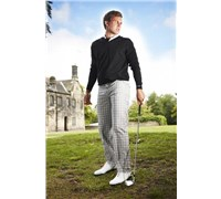 Stromberg Mens Batalha Funky Golf Trouser (Black/White/Black)