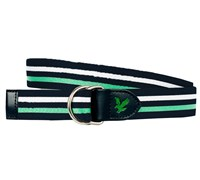 Lyle and Scott Golf Striped Canvas Belt (New Navy)