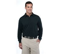 Callaway Mens Chev Embossed Long Sleeve Polo Shirt (Anthracite)