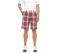Callaway Mens Modern Plaid Golf Shorts (Beet Red)
