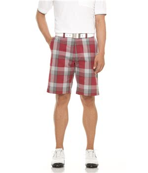 Callaway Mens Modern Plaid Golf Shorts