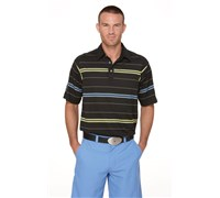 Callaway Mens Turf Stripe Polo Shirt (Anthracite)