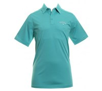 Callaway Mens Chev Embossed Polo Shirt (Carribean Teal)