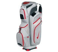 Nike M9 II Golf Cart Bag (Metallic Silver/Hyper Red-Stealth)