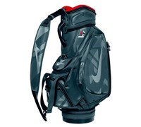 Nike VR_S Tour Staff Cart Bag (Reflective Silver/White - Charcoal Red)