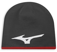Mizuno 360 Reversible Beanie Hat (Charcoal/Red)
