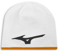 Mizuno 360 Reversible Beanie Hat (White/Orange)
