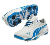 Puma Golf Mens BiO Fusion Golf Shoes 2014 (White/Blue)
