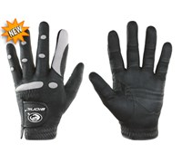 Bionic Mens Aquagrip All Weather Golf Gloves (Black/Grey)