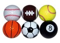 Novelty Sports Golf Balls (6 Balls)