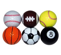 Novelty Sports Golf Balls  6 Balls