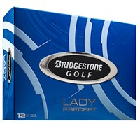 Bridgestone Lady Precept White Golf Balls 2014  12 Balls