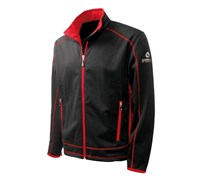 Sunderland Mens Bonded Fleece (Black/Red)