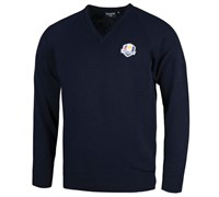Glenmuir Mens Ryder Cup Branklyn Lambswool Golf Sweater (Navy)