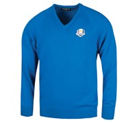 Glenmuir Mens Ryder Cup Branklyn Lambswool Golf Sweater (Blue)