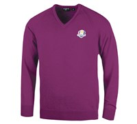 Glenmuir Mens Ryder Cup Branklyn Lambswool Golf Sweater (Berry)