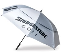 Bridgestone Golf 68 Inch Double Canopy Umbrella (Silver)