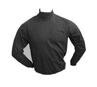 Oscar Jacobson Mens Buck Rollneck Shirt (Black)