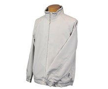 Calvin Klein Mens Elite Full Zip Jacket (Silver/Black)