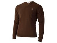 Calvin Klein Mens Super Wool V-Neck Sweater 2012