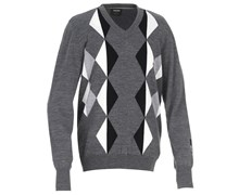 Galvin Green Mens Calden Knitted Sweater 2013 (Grey Melange/Black)