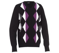 Galvin Green Mens Calden Knitted Sweater (Black/Purple)