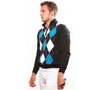 Stromberg Mens Cannes Merino Golf Jumper 2014 (Grey/Navy/Blue)