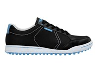Ashworth Mesh Cardiff Golf Shoes (Black/Columbia Blue) 2013