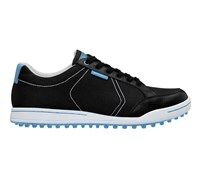 Ashworth Mens Mesh Cardiff Golf Shoes 2013 (Black/Columbia Blue)