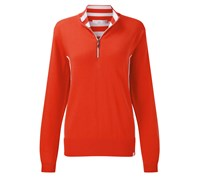 Ping Collection Ladies Carrie Zip Neck Sweater 2014 (Red)