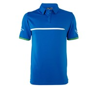 Callaway Mens Zoom Pieced Faux Welding Polo Shirt 2014 (Blue)