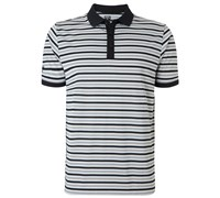 Callaway Mens Chev Striped Polo Shirt 2015 (Caviar)