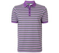 Callaway Mens Chev Striped Polo Shirt 2015 (Violet Force)