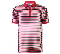 Callaway Mens Chev Striped Polo Shirt 2015 (Granita)