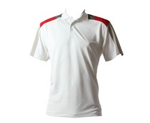 Calvin Klein Mens Shoulder Panel Polo Shirt (White/Geranium)