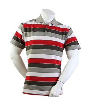 Calvin Klein Mens Panelled Striped Polo Shirt