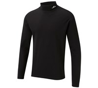 Cypress Point Mens Cotton Interlock Rollneck Top 2014 (Black)