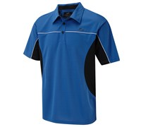 Cypress Point Mens Cut and Sew Solid Polo Shirt 2014 (Electric Blue)