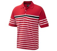 Cypress Point Mens Striped Polo Shirt 2014 (Red)