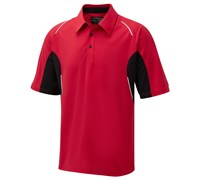 Cypress Point Mens CoolPass Cut and Sew Polo Shirt 2014 (Red)