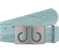 Druh Tour Collection Crocodile Aqua Leather Belt (Crocodile Aqua)
