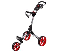 Cube Golf Push/Pull Trolley (Black/Silver/Red)