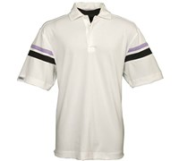 Callaway Golf Mens Short Sleeve 3 Button Polo Shirt (White)