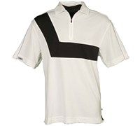 Callaway Golf Mens Zip Front Polo Shirt (White)