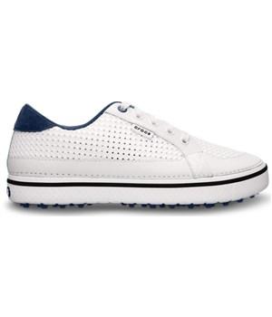 Crocs Mens Drayden Golf Shoes WhiteNavy