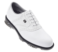 FootJoy Mens DryJoys Tour Series Golf Shoes (White/White)